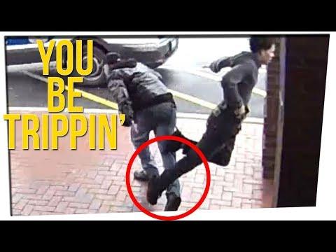 Grandpa Trips Guy Running from Police ft. Tim DeLaGhetto & DavidSoComedy