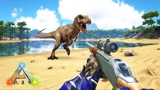 ARK: Survival Evolved - SNIPER RIFLE HUNTING DINOSAURS! (ARK: Survival Evolved Gameplay)