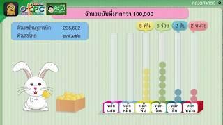 สื่อการเรียนการสอน การอ่านและเขียนตัวเลขแสดงจำนวนนับที่มากกว่า 100,000 ป.4 คณิตศาสตร์