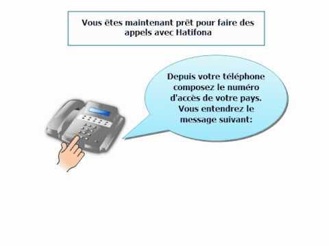 Hatifona - les numéros d'accès pour des appels rapides