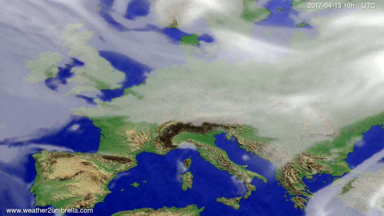 Cloud forecast Europe 2017-04-11