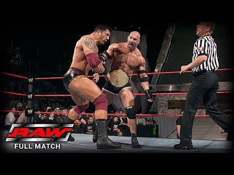 WWE | GOLDBERG VS BATISTA | (FIRST AND LAST TIME EVER)