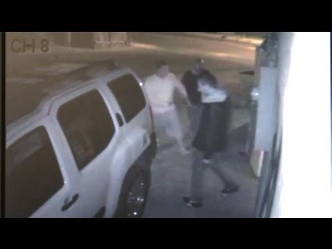 Brutal stabbing caught on video
