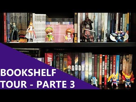 BOOKSHELF TOUR PARTE 3/3 - MTG, HQs, mangás, sci-fi, thriller e mais 📚 | Biblioteca da Rô