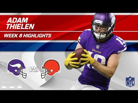 Video: Adam Thielen's 98-Yard Day w/ 1 TD Grab! | Vikings vs. Browns | Wk 8 Player Highlights
