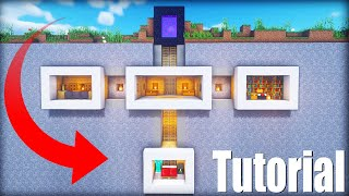 "Minecraft Tutorial: How To Make A Secret Hidden Underground Base ""Nether Portal Hidden Base"""
