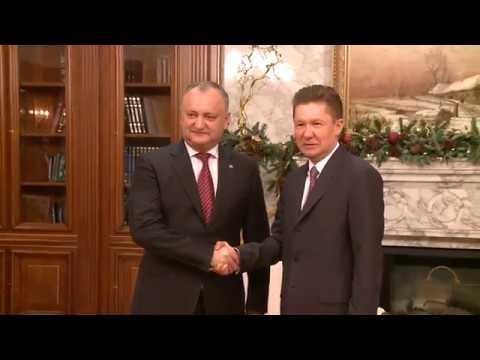 """Președintele Moldovei a solicitat președintelui """"Gazprom"""" o reducere de 10-15% pentru gazul livrat Moldovei"""