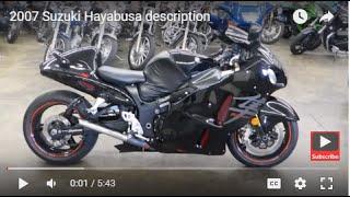 10. 2007 Suzuki Hayabusa description