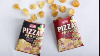 Jack 'n Jill Calbee Pizza Potato Chips and Jack 'n Jill Calbee Spicy Pizza Potato Chips