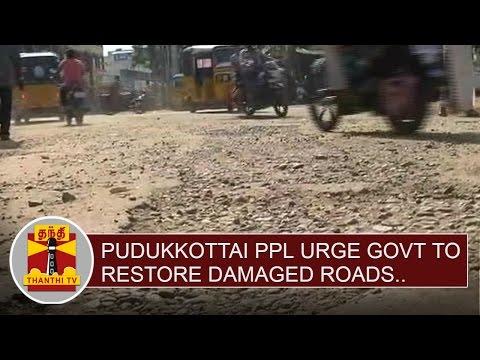 Pudukkottai-people-urge-Govt-to-restore-damaged-roads-Thanthi-TV