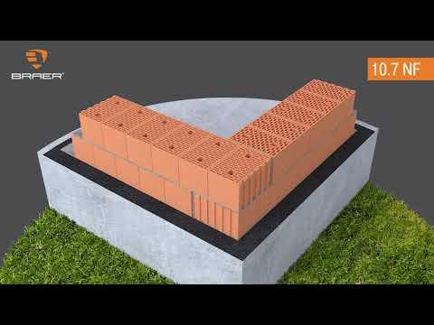 Рекомендуемая перевязка углов стен из керамических блоков
