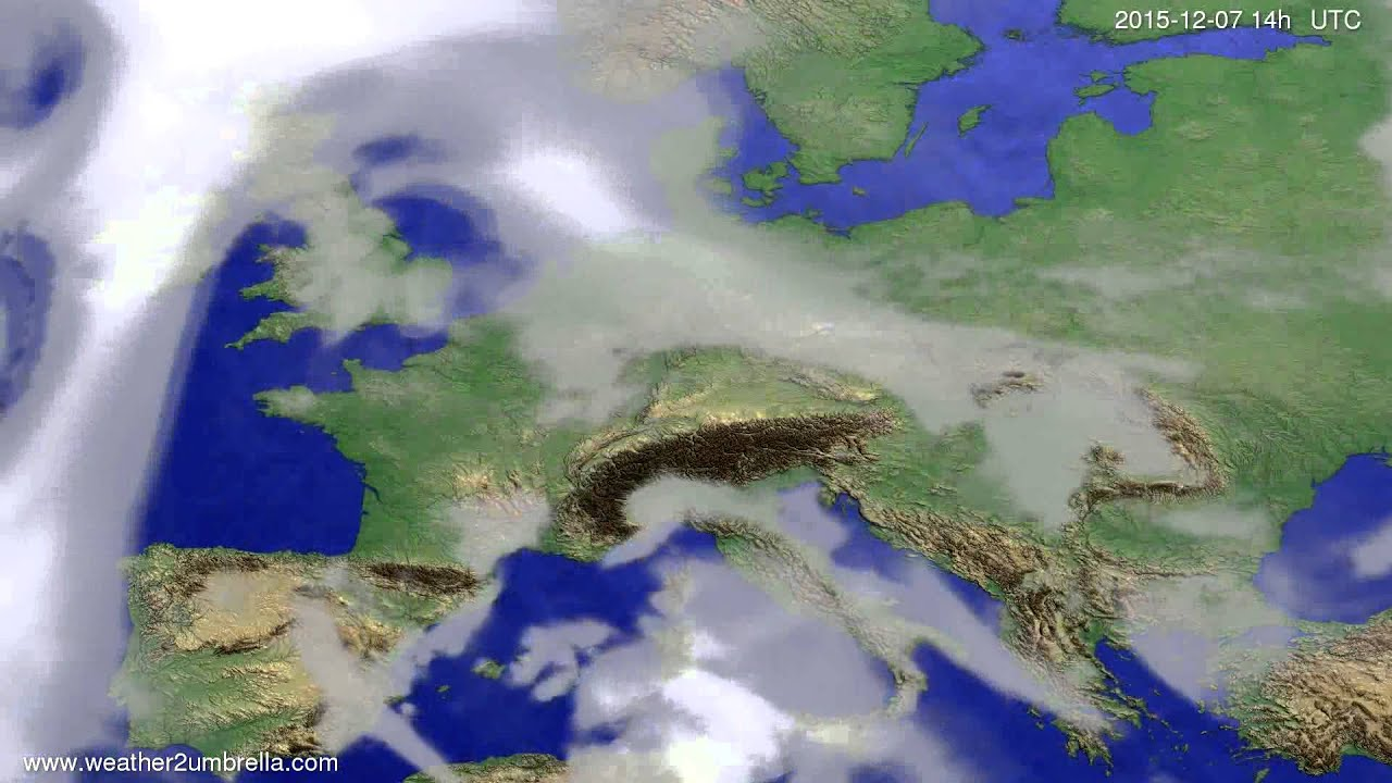 Cloud forecast Europe 2015-12-03