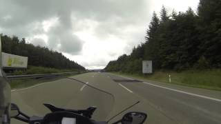 8. BMW K1600 on Autobahn