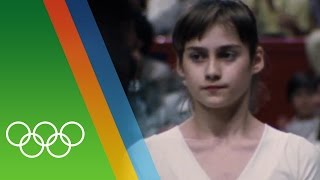 Nadia Comaneci - Countdown to Rio 2016 - 31 Iconic Olympic Moments At aged 14, Nadia Comaneci was awarded the first perfect 10 for her performance on the une...