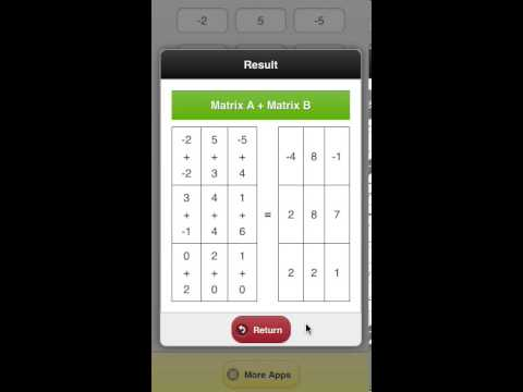Video of Advance Matrix Calculator