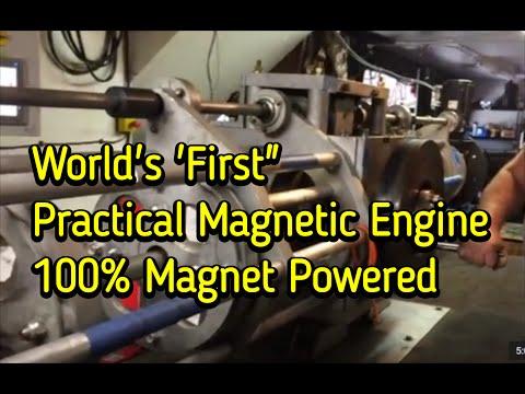 Selfstarting Magnet Motor 100% Magnet Powered (видео)