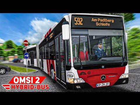 OMSI 2: Im Mercedes-BENZ GDH HYBRIDBUS unterwegs in Waldhofen   Bus Simulator