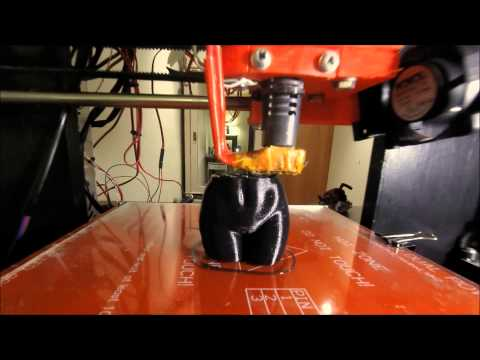 Time-lapse of 3D printed nude woman torso with GoPro Hero 2014 HD