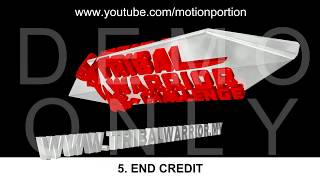 3D Animation: Title, Lower Third, Transition, Flying Text, End Credit