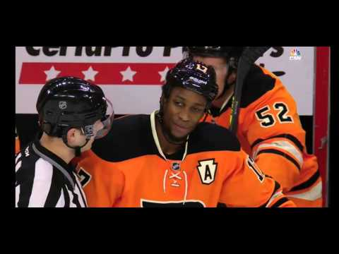So what do Flyers announcers think about SIMMONDS sucker punch, match penalty for