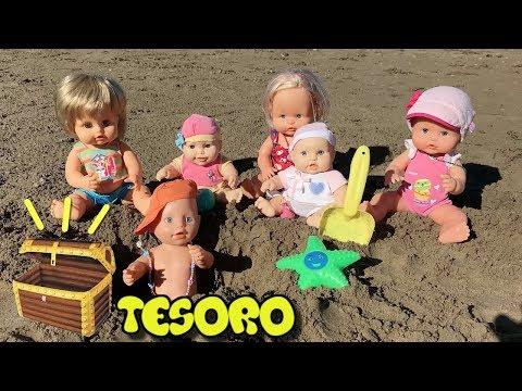 Peppa Pig en español - Fiesta en la playa! Bebe Nenuco Lola encuentra el tesoro de peppa pig. Nuevos capitulos en español