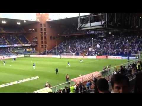 La Sampdoria entra in campo