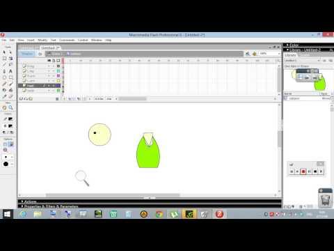 การ์ตูนเคลื่อนไหว - Animation สอนทำ Flash 8 การ์ตูน เคลื่อนไหว part1/2.