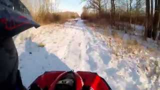 5. Can Am renegade 800 in snow