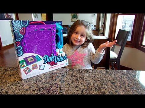 DohVinci-Anywhere Art Studio-Chloe's Toy Time (видео)