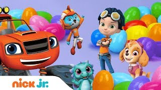 Surprise Eggs w/ PAW Patrol, Blaze, Shimmer and Shine, Rusty Rivets & Top Wing 🐰🥚 | Nick Jr.