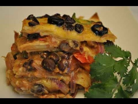 Mexican Recipe: How to Make a Mexican Vegetable Lasagna (Lasagne)