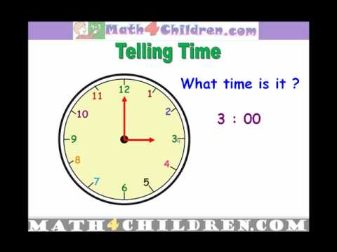Reading the Minute Hand on a Clock Video