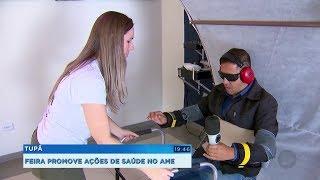 Feira leva orientações preventivas e exames de saúde gratuitos a pacientes do AME de Tupã