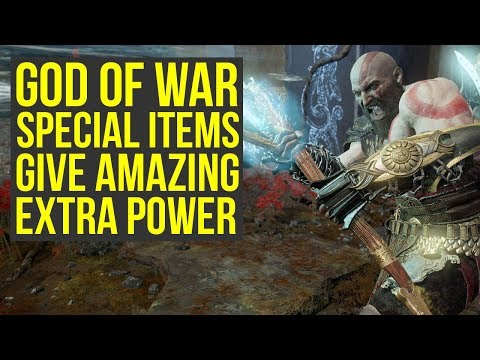 God of War Best Gear - Special Items That Give AMAZING EXTRA POWER (God of War 4 Best Gear) (видео)