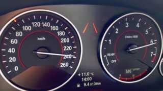 8. BMW F30 328i Beschleunigung Acceleration 0-100 + 100-200 km/h