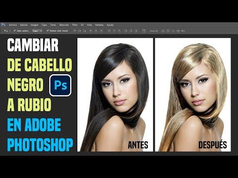 Tutorial Photoshop: Retoque Fotográfico Cambio de Color Cabello Oscuro a Rubio.