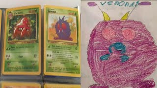 All 151 Original Pokemon Cards! And my crappy drawings of some back when i was 10ish by PokeaimMD