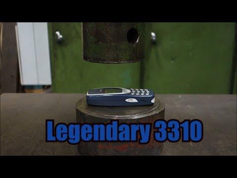 用液壓機壓下神機Nokia3310!畫面也太舒壓...