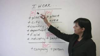 Talking about your Work, Business English