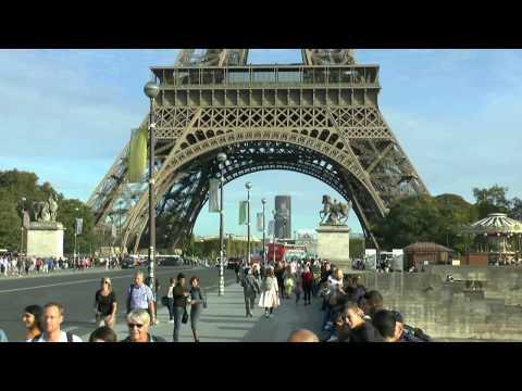 Paris France Pont d'Iéna Tour Eiffel