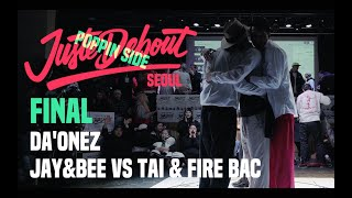 Tai & Fire Bac vs Soul Bin & Feelin (Daonez Jay & Bee) – JUSTE DEBOUT 2019 SEOUL Popping Final
