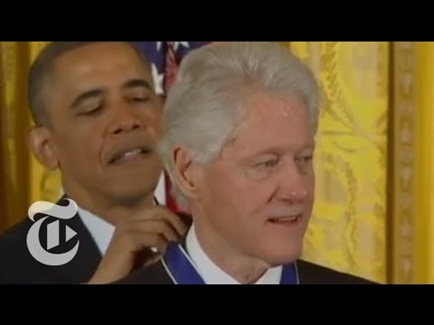 medal - Subscribe on YouTube: http://bit.ly/U8Ys7n President Obama presented the award to 16 Americans, including former President Bill Clinton. Read the story here:...