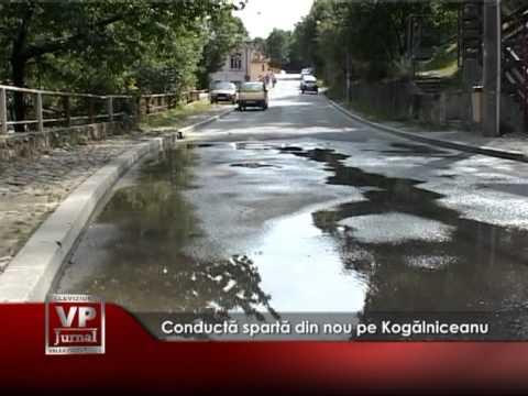 Conductă spartă din nou pe Kogălniceanu