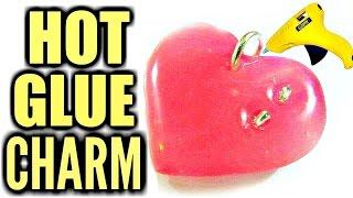 DIY Hot Glue Necklace Pendant   DIY Heart Charm - YouTube
