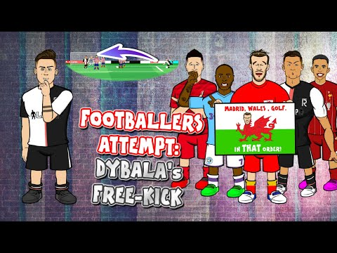 💥Footballers Attempt Dybala's Free-Kick💥