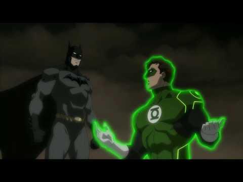 Green Lantern Fails To Help Batman - Justice League : Throne Of Atlantis