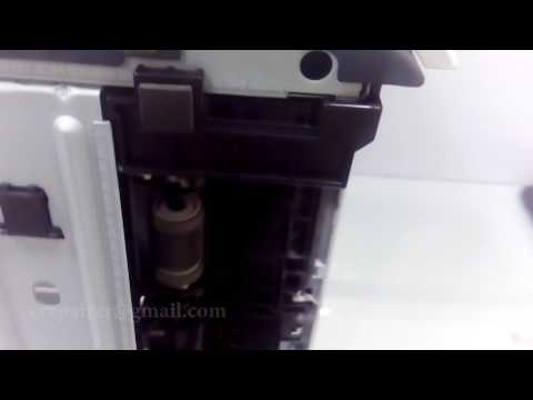 Hp Laserjet 3015 - how to remove Paper Jam In Tray2
