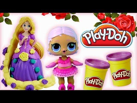 LOL Surprise & Play Doh Disney Princess • Roszpunka • bajki i kreatywne zabawki