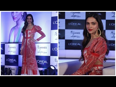 Deepika Padukone Unveils L'Oreal Paris New Cannes Collection 2017