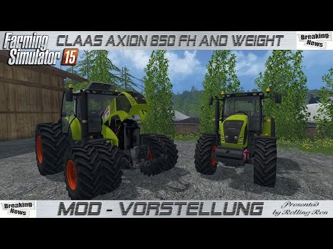 Claas Axion 850 FH and Weight v1.0 FINAL